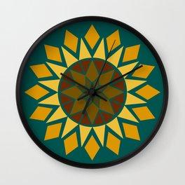 Native Sunflower Wall Clock