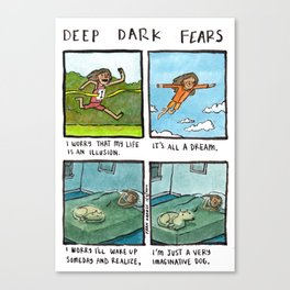 Deep Dark Fears 131 Canvas Print