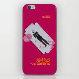Indagine su un cittadino al di sopra di ogni sospetto, movie poster, Elio Petri, italian cinema iPhone Skin