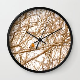 Robin In Early Spring #decor #society6 Wall Clock