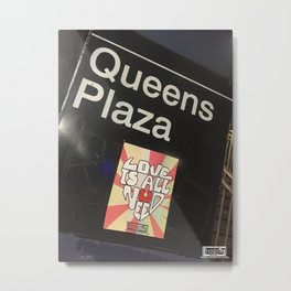 Queens Plaza Station Metal Print