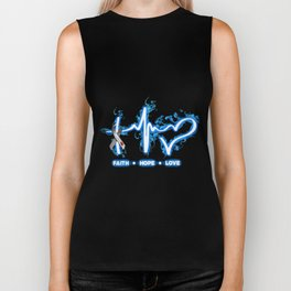 faith hope love wick medical pharmacy jospital cancer Biker Tank