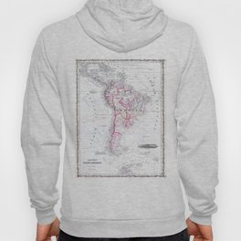 Vintage Map of South America (1861) Hoody