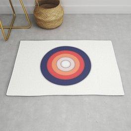 Circle Shadows Red & Blue Rug