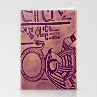egyptian Stationery Cards featuring Egyptian (Horus) by Aaron Carberry