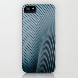 Curved spires from the Oculus in NYC iPhone Case