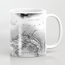Vintage Map of Panama (1851) BW Coffee Mug