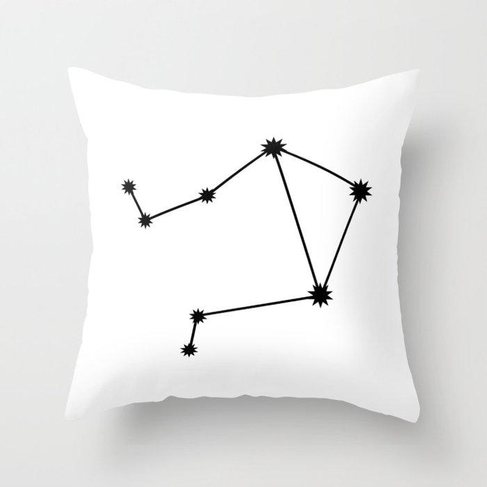 Libra Astrology Star Sign Minimal Throw Pillow
