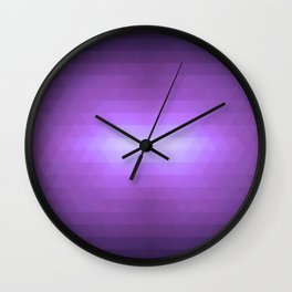 Purple lips Wall Clock