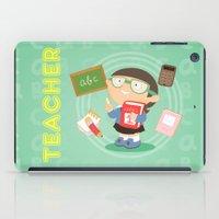 teacher iPad Cases featuring teacher by Alapapaju
