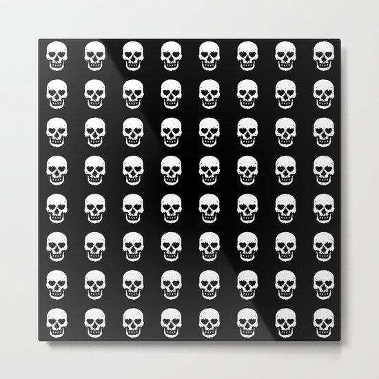 Heart Skulls Metal Print
