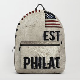 Tribute to Philadelphia, City of Brotherly Love Backpack