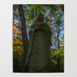 Buddha in Autumn Forest Poster