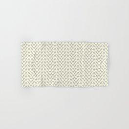 Chevron V Shapes Horizontal Lines Benjamin Moore 2019 Metropolitan Light Gray AF-6 and Lemon Chiffon Hand & Bath Towel