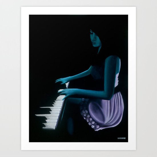 """""""Silhouette cast from the depths""""  Art Print"""