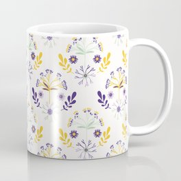 Wildflower Bouquet Leaf Folk Coffee Mug