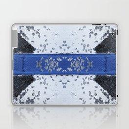 Blue and White Crumbling Laptop & iPad Skin