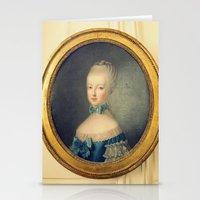 marie antoinette Stationery Cards featuring Marie Antoinette by happeemonkee