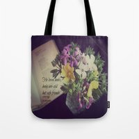 les miserables Tote Bags featuring Books Les Miserables by KimberosePhotography