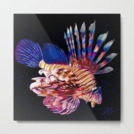 Lionfish Painting Metal Print