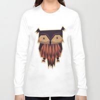 yetiland Long Sleeve T-shirts featuring Owl by Yetiland