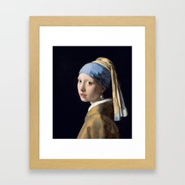 Girl with a Pearl Earring, Johannes Vermeer, 1665 Framed Art Print