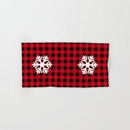 Red Buffalo Check - snowflake - more colors Hand & Bath Towel