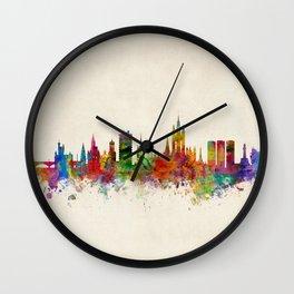 Aberdeen Scotland Skyline Wall Clock