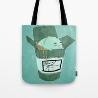 pasta Tote Bags featuring Pasta Pudding by Luna Aldrin