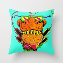 Food Face Throw Pillow
