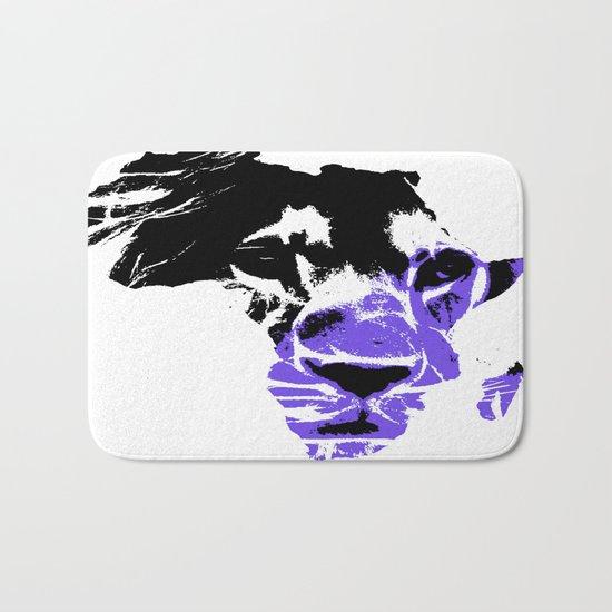 Africa Lion : Purple Bath Mat
