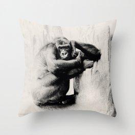 Chilla Gorilla Throw Pillow
