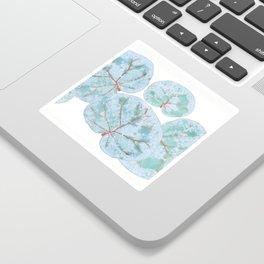 Sea Grape Tropical Leaves Sticker
