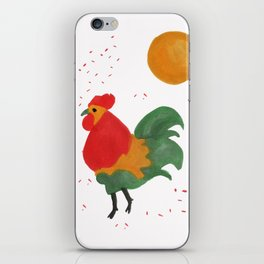 Celebratory Rooster iPhone Skin