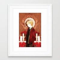 kieren walker Framed Art Prints featuring kieren by suto