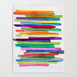 Colorful Stripes 1 Poster