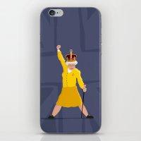 queen iPhone & iPod Skins featuring QUEEN by Bakus