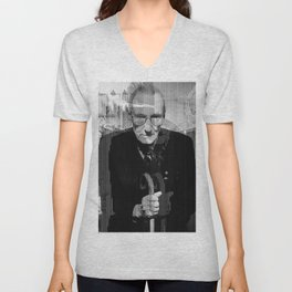 William Burroughs glitch Unisex V-Neck