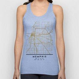 MEMPHIS TENNESSEE CITY STREET MAP ART Unisex Tank Top