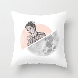 The Moon III Throw Pillow