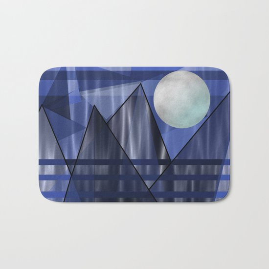Moon Over The Mountains Bath Mat