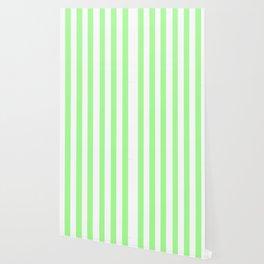 Vintage Victorian Style Light Green Stripes Wallpaper