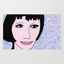 """Tereza from """"The Unbearable Lightness of Being"""" Rug"""