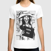 hook T-shirts featuring Captain Hook by Gabrielle Wall