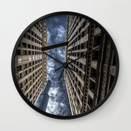 The Chicago Trump Tower Up in Smoke Wall Clock