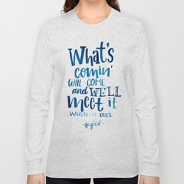 Wise Words of Hagrid Long Sleeve T-shirt