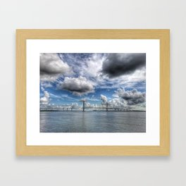 Bridge Over Calm Water Framed Art Print