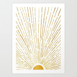 Let The Sunshine In 2 / Vertical Version Art Print