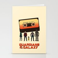 guardians of the galaxy Stationery Cards featuring GUARDIANS OF THE GALAXY by Kaitlin Smith
