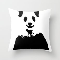 Pandas Blend into White Backgrounds Throw Pillow